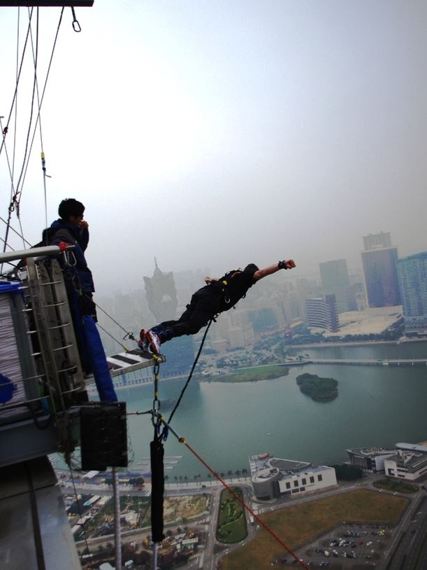 Bungy Jump from Macau Tower